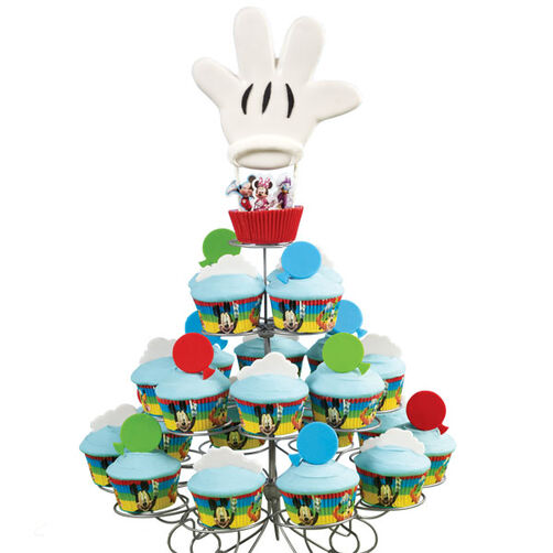 Mickey?s Cartoon Balloon Cupcake Display