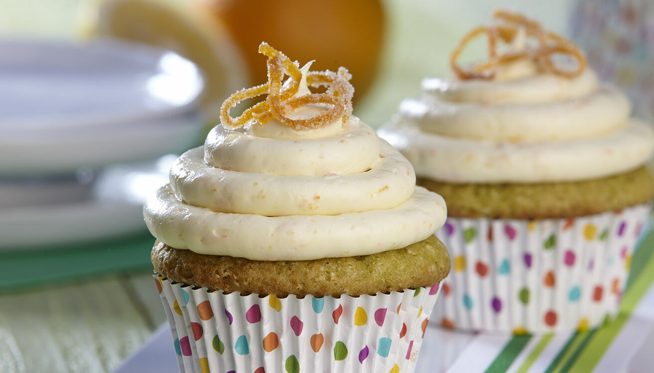 Citrus Avocado Cupcakes