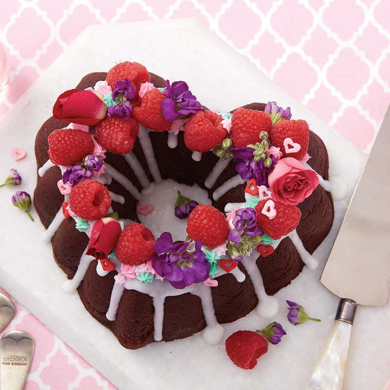 Valentine's Day Heart Chocolate Pound Cake image number 0