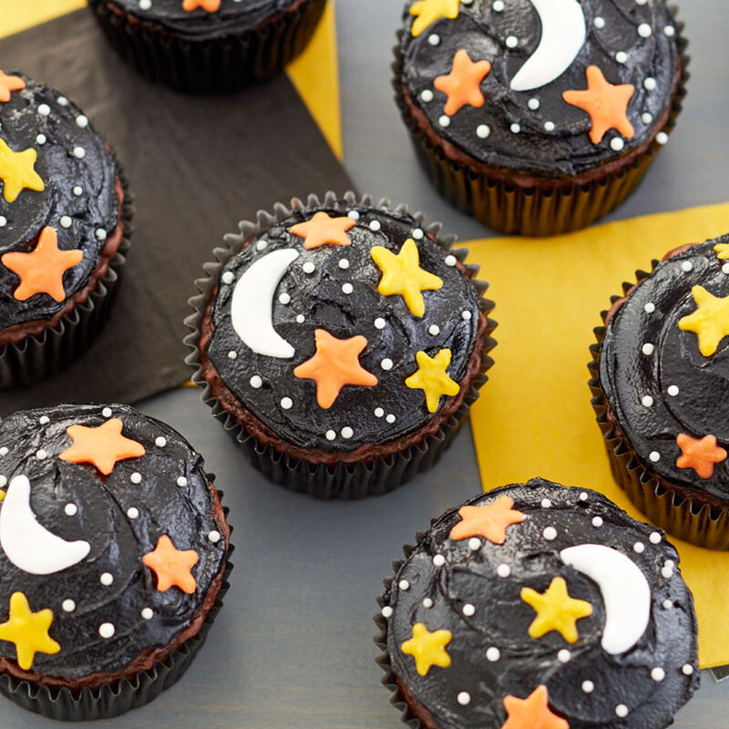 Night Sky Halloween Cupcakes