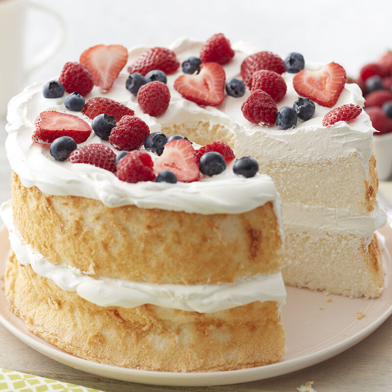 Angel Food Cake with Berries and Whipped Cream Recipe image number 0