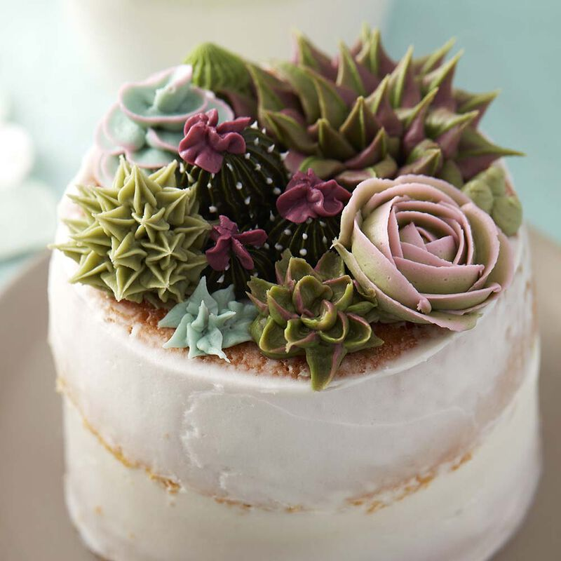 How to Pipe a Buttercream Succulent