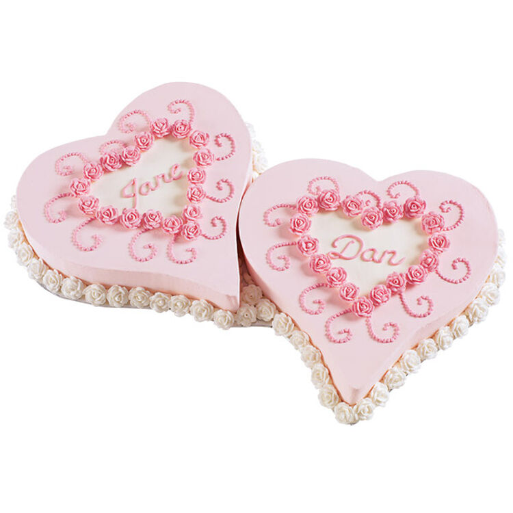 Pair of Hearts Cake