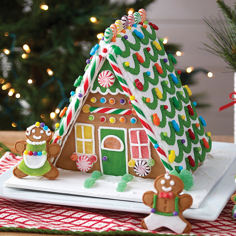 A Plus A-Frame Gingerbread House  image number 1
