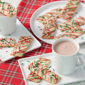 Cookie Dunkers with Christmas Sprinkles