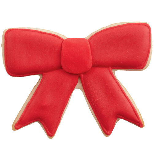 Bright Red Bow Cookies