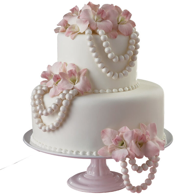 Poised in Pearls Cake image number 0