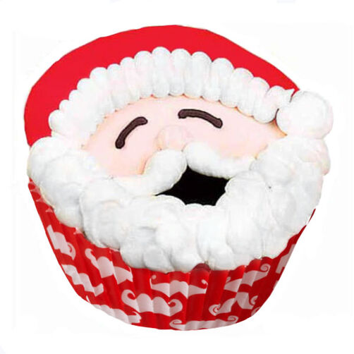 Smiles From Santa Cupcakes