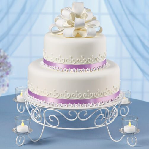 Lovely Loops Reception Cake Wilton