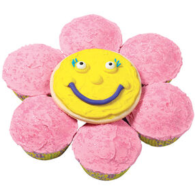Smiling Cookie and Cupcakes Flower