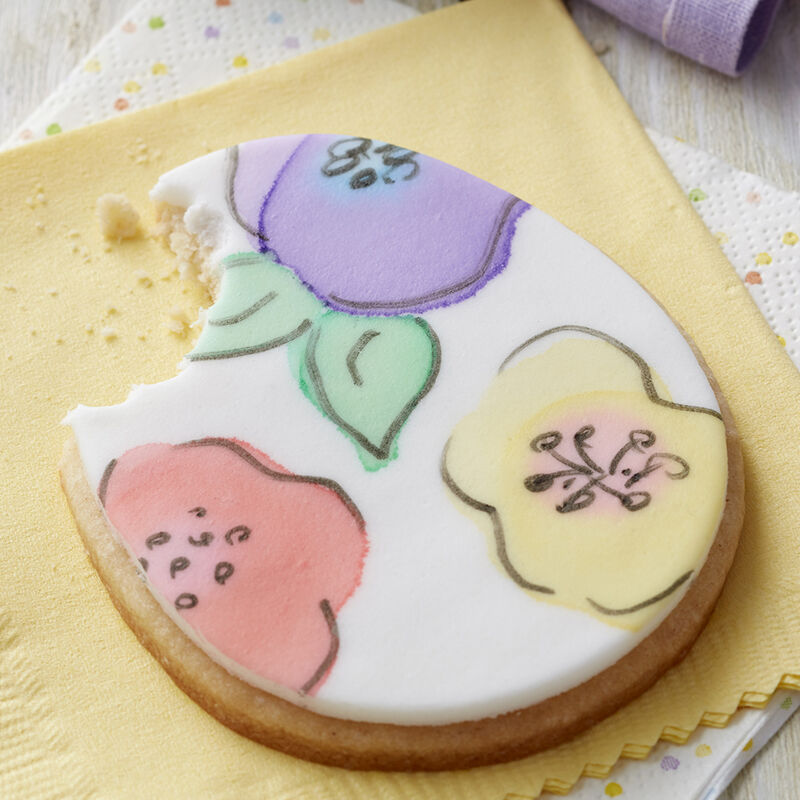 Painted Fondant Egg Cookies image number 1
