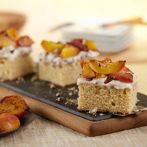 Grilled Peach Cake