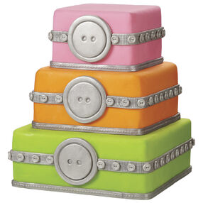 Buttoned Up Classic Cake