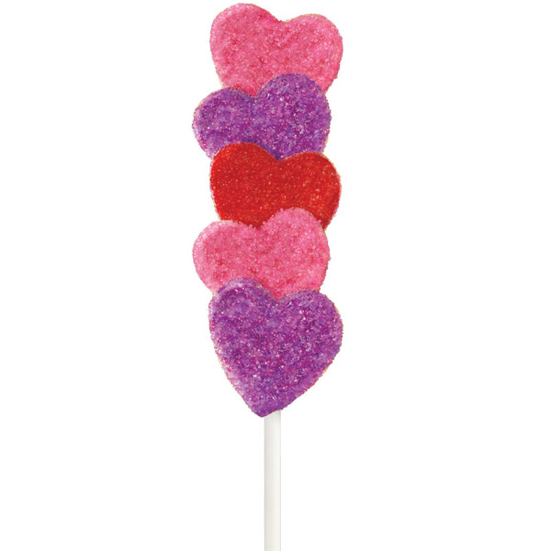 Sparkling Heart Cake on a Stick image number 0