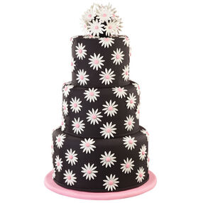 Bouquets on Black Cake