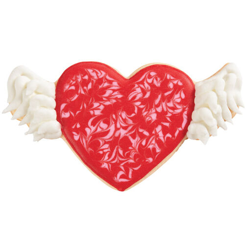 Heart With Wings Cookies Wilton