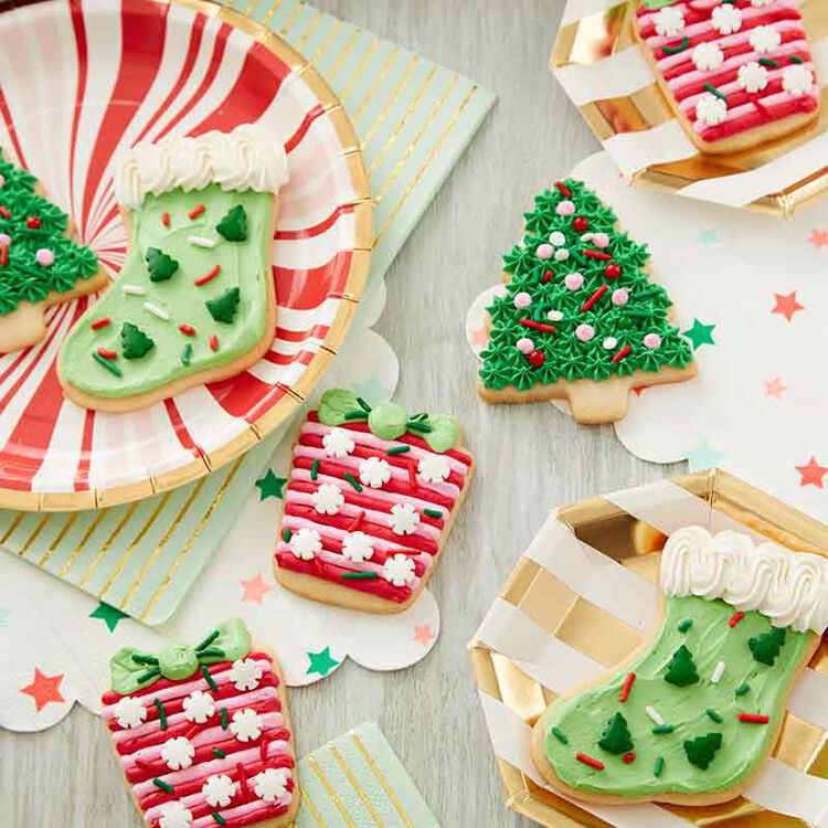 Soft Frosted Christmas Sugar Cookies