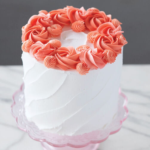 Ring Around the Rosettes Cake