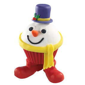 Silly Snowman Cupcakes