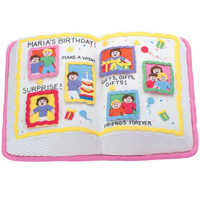 Scrapbook Surprise Cake