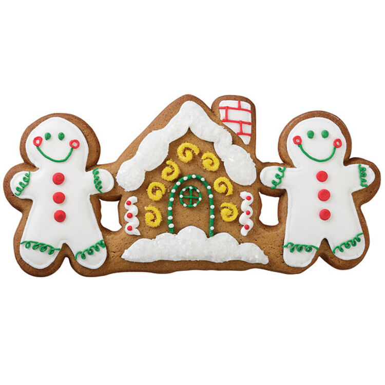 Snow-Driven Gingerbread House Cookie