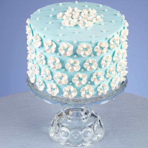 Big Blue Drop Flower Cake