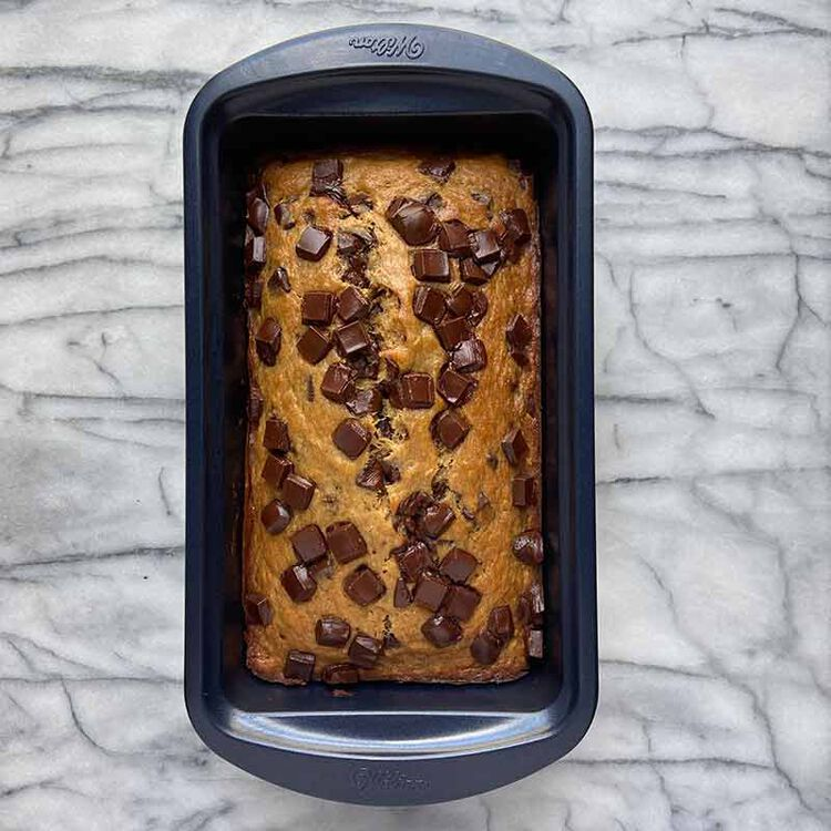 Easy Chocolate Chip Banana Bread in Pan