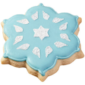 Frosty Finish Snowflake Cookies