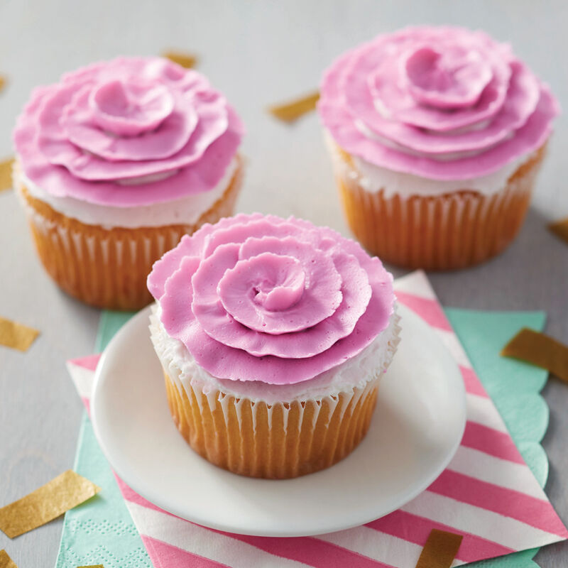 Blooming Ribbon Rose Cupcakes image number 0