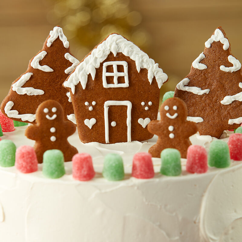 Jolly Gingerbread Christmas Cake image number 1