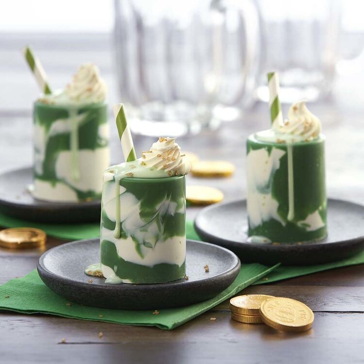 St. Patrick's Day Marbled Candy Shot Glasses