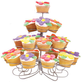 Bright Flowers and Candy Cupcakes