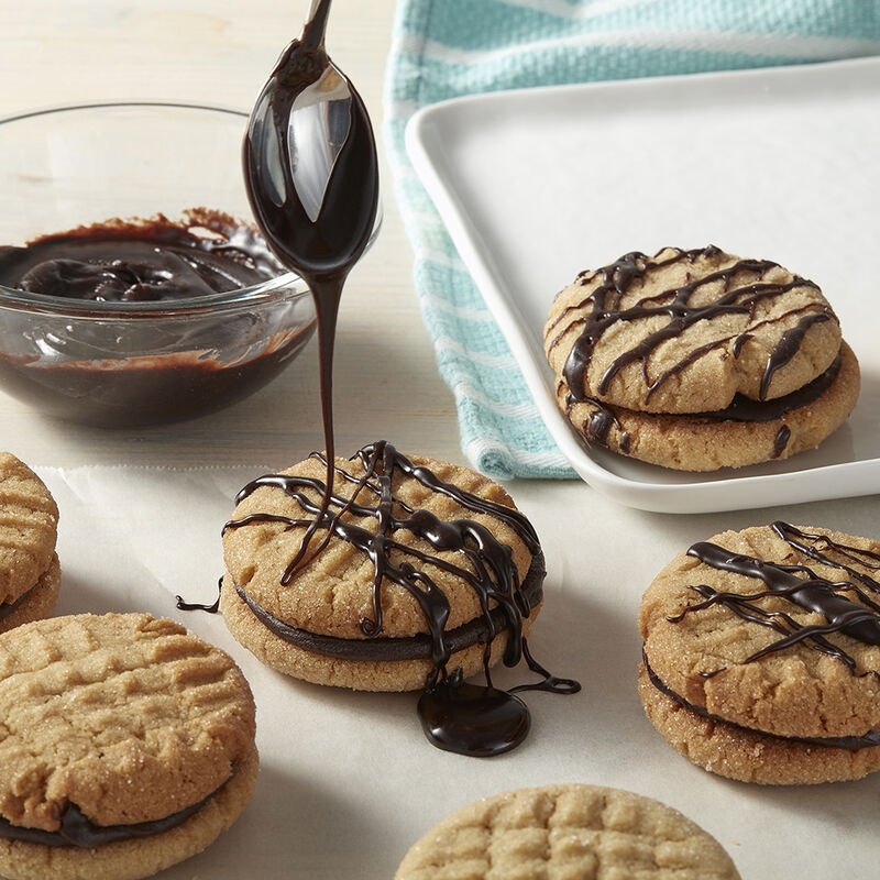 Chocolate Peanut Butter Sandwich Cookies image number 1