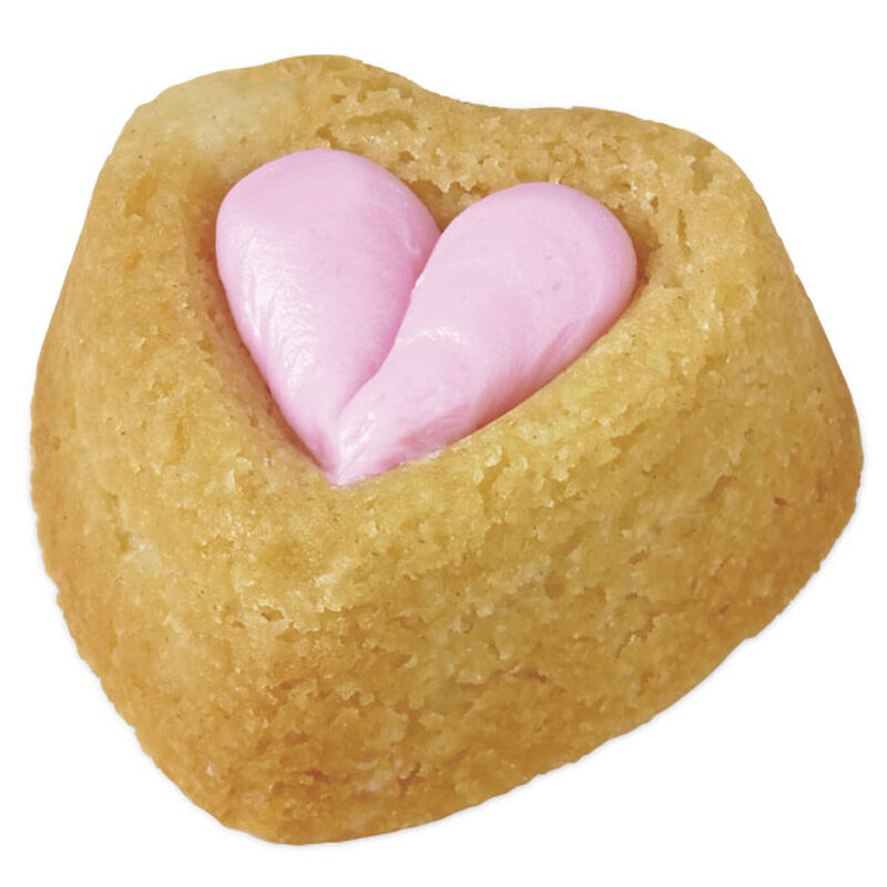 Rosy Hearts Mini Cakes image number 0