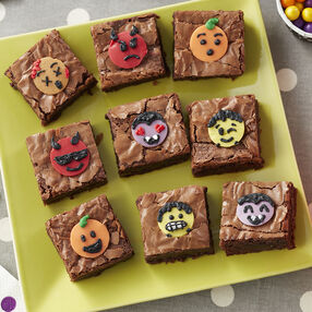 Halloween Emoji Brownies