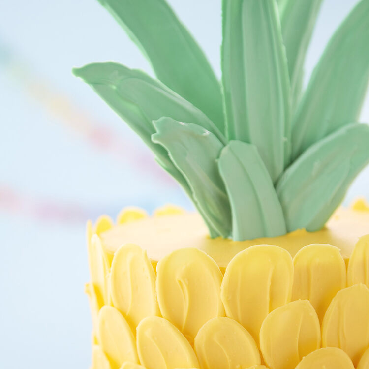 Brush Stroke Pineapple Cake