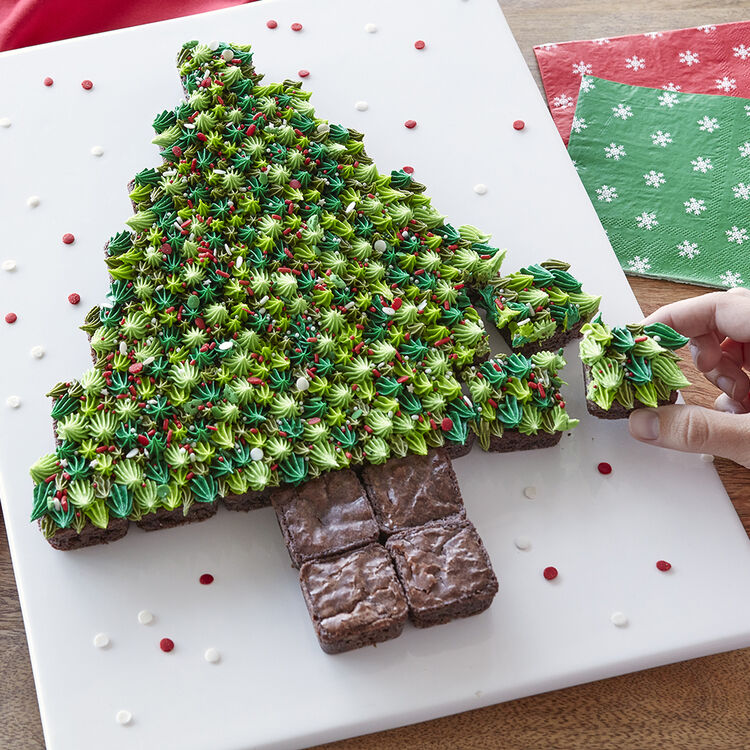 Brownie Christmas Trees - Holiday Brownies