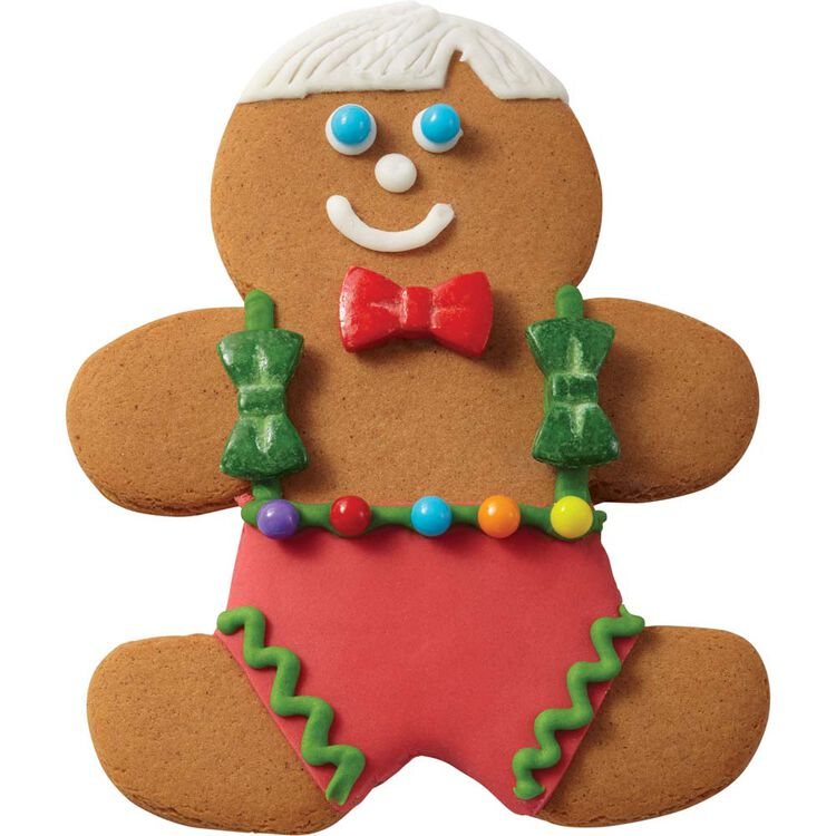 Gingerbread Boy with Bowtie and Suspenders