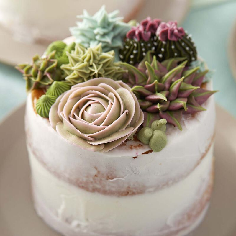 How to Make Buttercream Leafy Succulent
