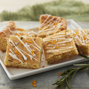 Orange and Rosemary Cookie Bars
