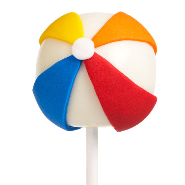 Beach Ball Cake Pops Wilton