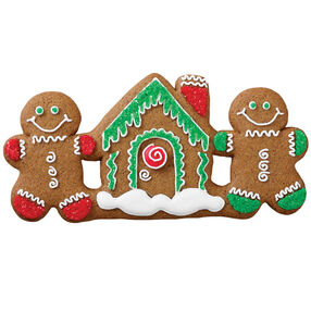 Icicle Topped Gingerbread House Cookie
