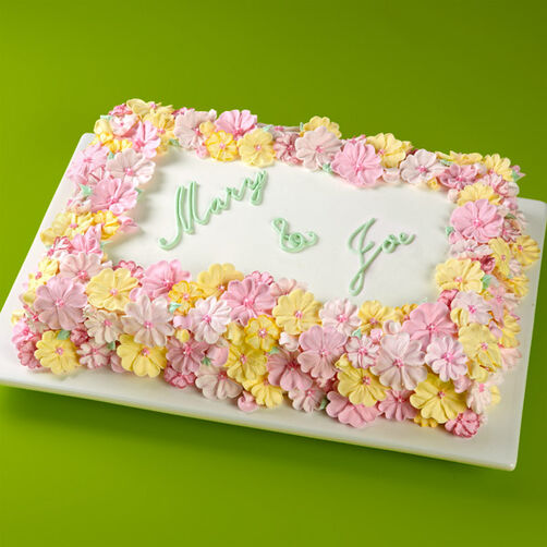 Images Blooming Bouquet Sheet Cake