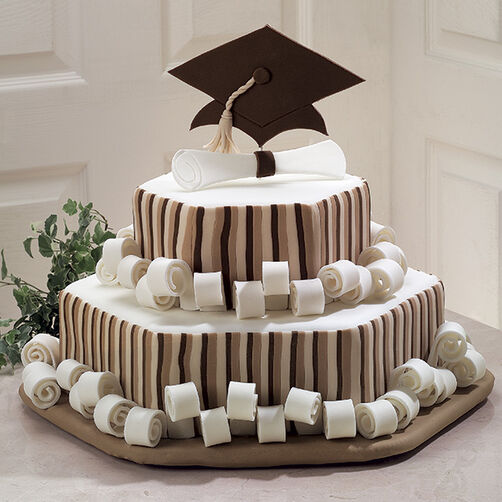 Honor Roll Scroll Graduation Cake