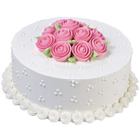 Ribbon Rose Rendezvous Cake