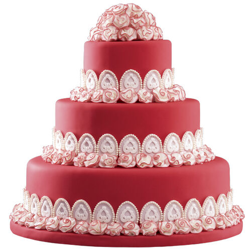 A Feast of Roses Wedding Cake