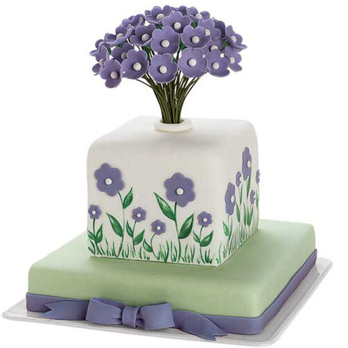 Wild Flower Bouquet Cake