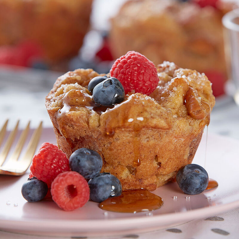 Jumbo Cheesecake-Stuffed French Toast Muffins image number 0