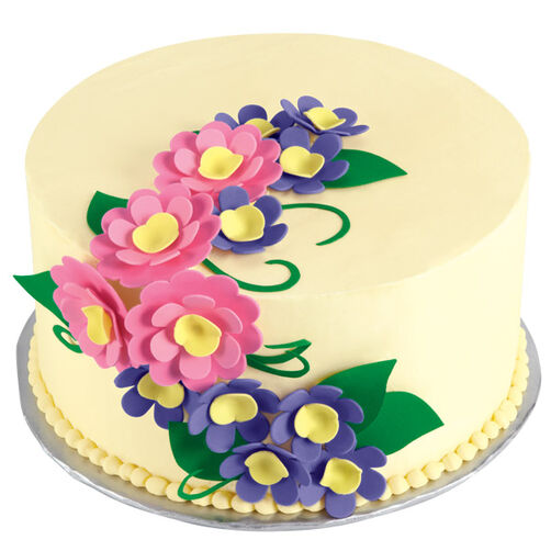 Lushly Layered Blooms Cake