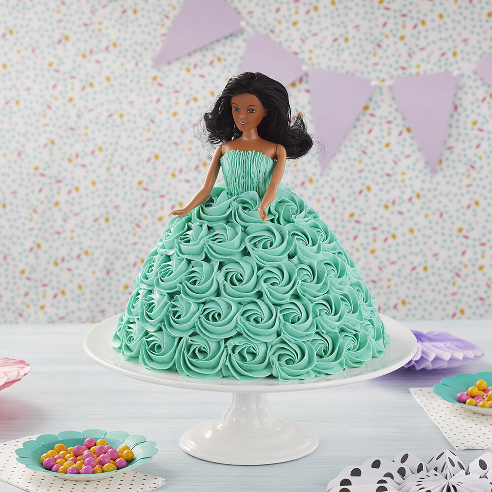 Doll Cake - Tickled Teal Doll Cake | Wilton